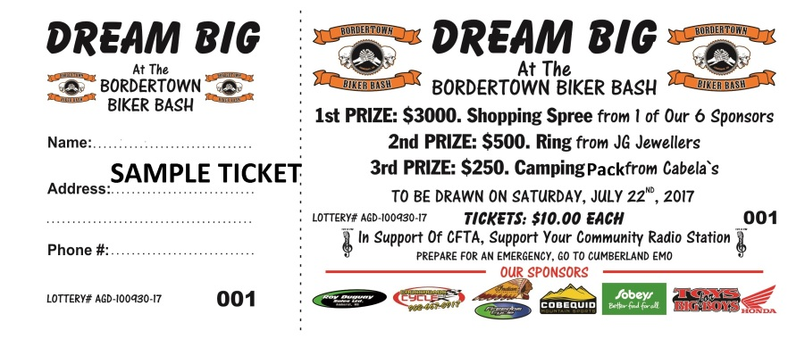 TICKETS_Dream Big_Bordertown Biker Bash_Randy Thurber_June 2017_option 1